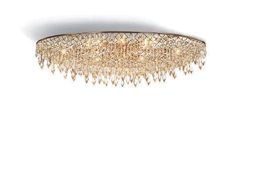 anthologie quartett crystal rain deckenleuchte rund. Black Bedroom Furniture Sets. Home Design Ideas