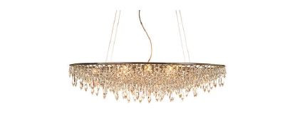 anthologie quartett crystal rain pendelleuchte oval pendelleuchten im designleuchten shop. Black Bedroom Furniture Sets. Home Design Ideas
