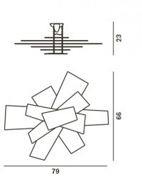 foscarini big bang parete soffitto deckenleuchten im wandleuchten shop wunschlicht kaufen. Black Bedroom Furniture Sets. Home Design Ideas