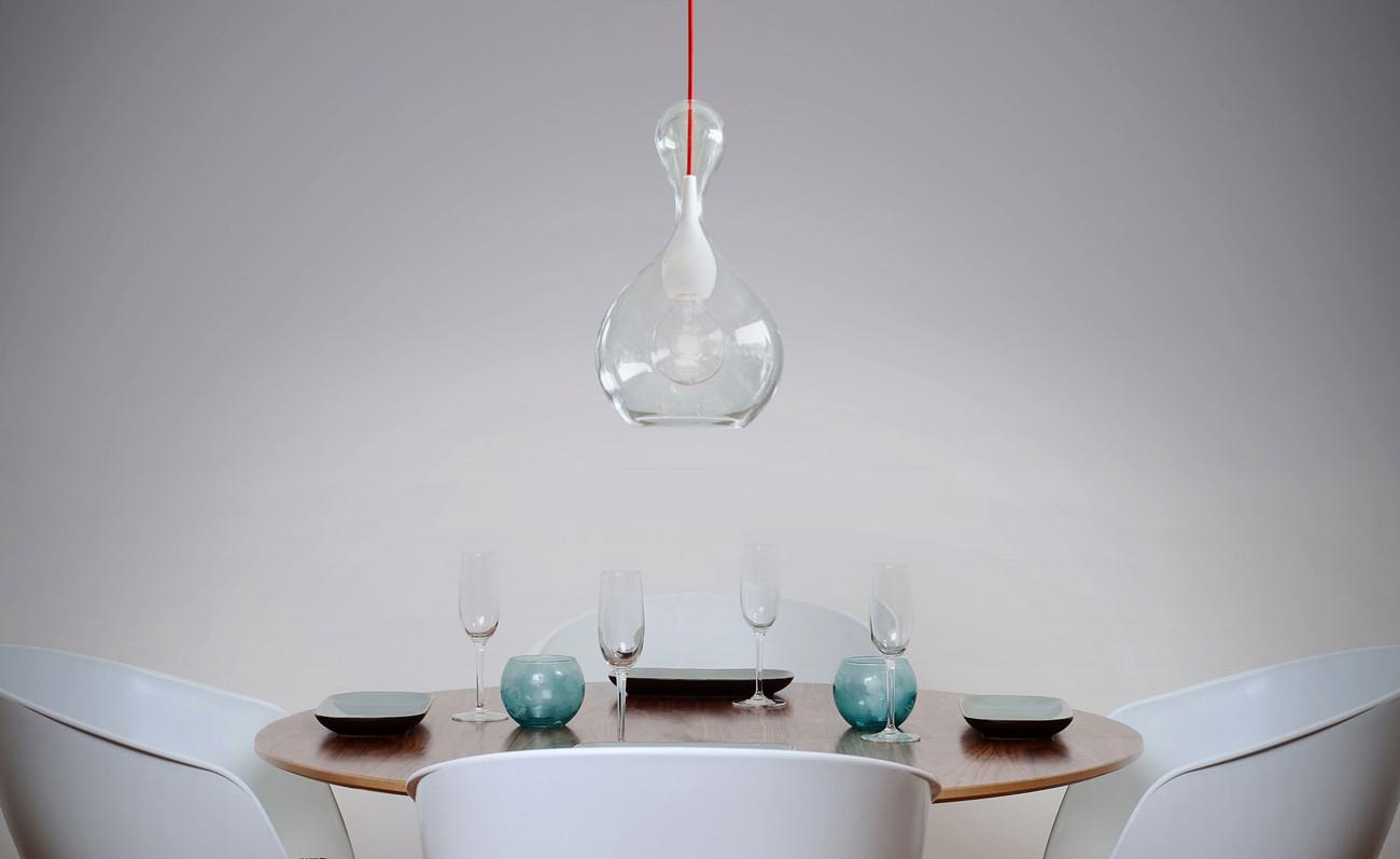 Next Blubb Pendel klar opal Pendelleuchten im Designleuchten-Shop ...