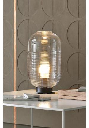 Bomma Lantern Table schwarz, Glasfarbe klar
