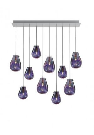 Bomma Soap Kronleuchter mit 10 Leuchten purpur