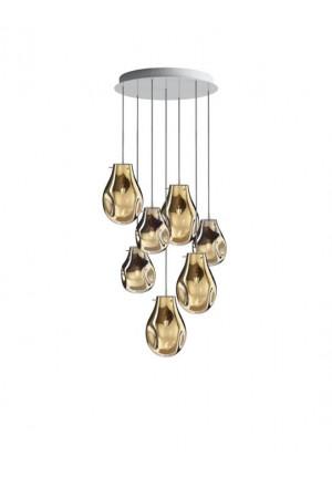 Bomma Soap Kronleuchter mit 7 Leuchten gold
