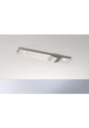 Bopp Wave rechteckig 3-flammig aluminium