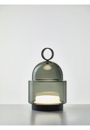 Brokis Dome Nomad Small rauchgrau, Leuchtenfuß schwarz
