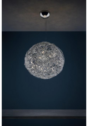 Catellani and Smith Fil de Fer Pendant LED 100 Aluminium natur