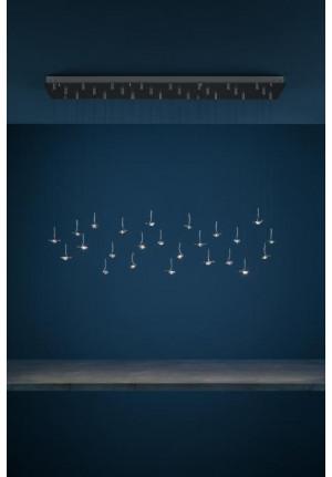 Catellani and Smith Jackie O Chandelier 15/20/24 rechteckig mit 20 Leuchten