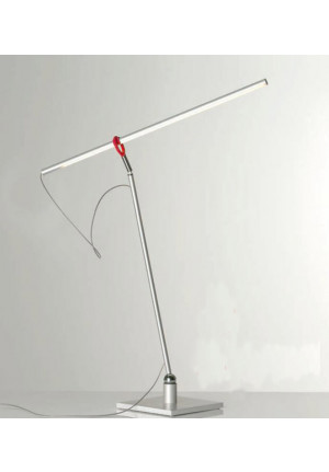 Escale Slimline Tischleuchte mit rotem Clip