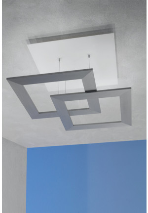 Escale Zen Due Glas, Aluminium geschliffen