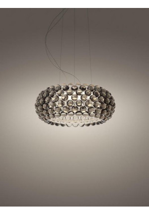 Foscarini Caboche Plus Sospensione Media LED grau