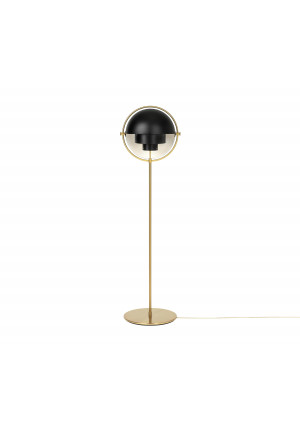 GUBI Multi-Lite Floor Lamp Messing, Schirm schwarz