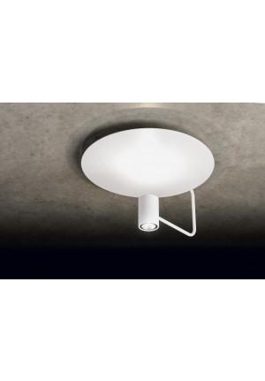Holtkötter Disc Reflektor Blattsilber, Leuchtenkopf schwarz
