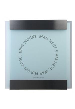 Keilbach - Briefkasten Glasnost bedrucktes Glas Ausführung Nest