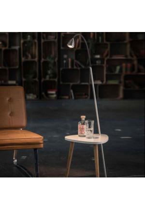 Less'n'more Ringelnatz Athene Tisch RI-A Aluminium, flexibler Arm Textil schwarz