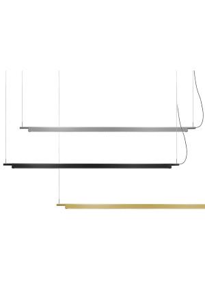 Luceplan Compendium Pendelleuchte Alu, schwarz und Messing