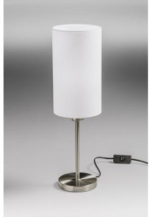 Lupia Licht Albergo Leuchtenstab Nickel, Leuchtenschirm weiß