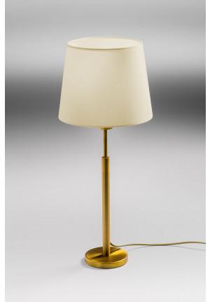 Lupia Licht Garde T Leuchtenstab Messing antik Leuchtenschirm Champagner