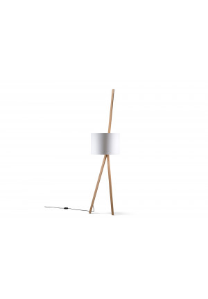 Maigrau Luca Lean-Eiche, natur - Leuchtenschirm weiß