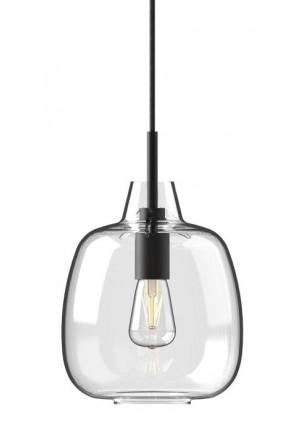 Mawa Bergamo klar glänzend Version 1, Aufhängung schwarz, Baldachin schwarz