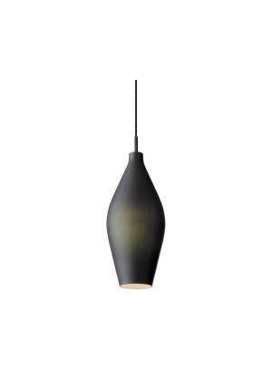 Mawa Granada opal schwarz matt Version 1, Aufhängung schwarz, Baldachin schwarz; eingeschaltet
