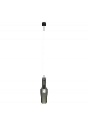 Mawa Pisa rauch glänzend Version 1, Aufhängung schwarz, Baldachin schwarz
