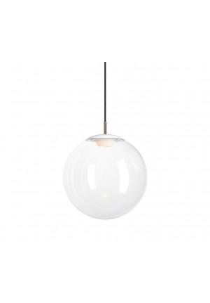 Mawa Glaskugelleuchte LED 30cm klar, Aufhängung weiß