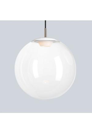 Mawa Glaskugelleuchte LED 30cm weiß opal, Aufhängung weiß