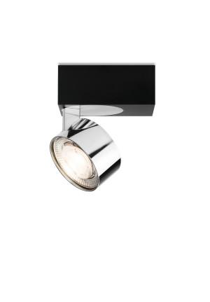 Mawa Wittenberg 4.0 Deckenleuchte asymmetrisch LED Version 5, schwarz mit Leuchtenkopf Messing