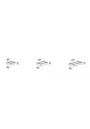 Serien Lighting Spiegeladapter Set für SML Wall