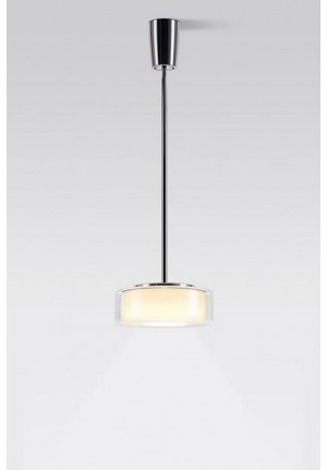 Serien Lighting Curling Suspension Tube Halogen klar/ zylindrisch opal