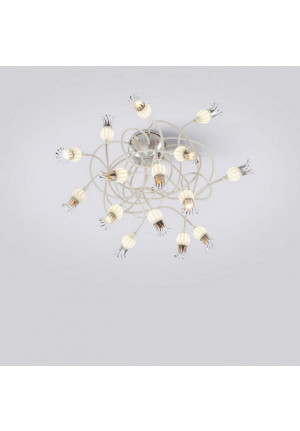 Serien Lighting Poppy Ceiling 15 Schirme Keramik, Arme beige