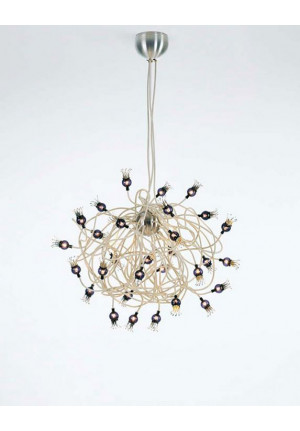 Serien Lighting Poppy Suspension arme beige, Schirme schwarzviolett