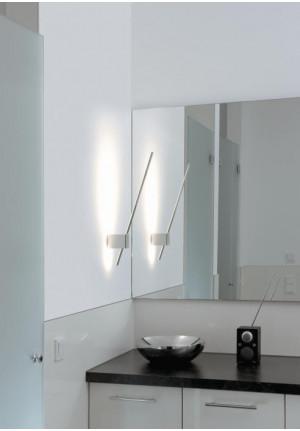 Steng Ax-LED Wandleuchte Nickel glänzend