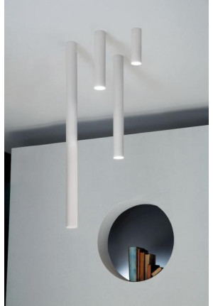 Studio Italia Design A-Tube Large, Small, Medium und Mini Ceiling weiß