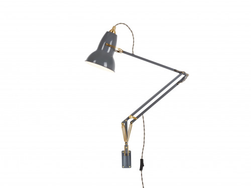 Anglepoise Original 1227 Brass Lamp with Wall Bracket grau