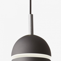 Anglepoise Type 75 Maxi Pendant Schirm grau mit Aluminiumdetail