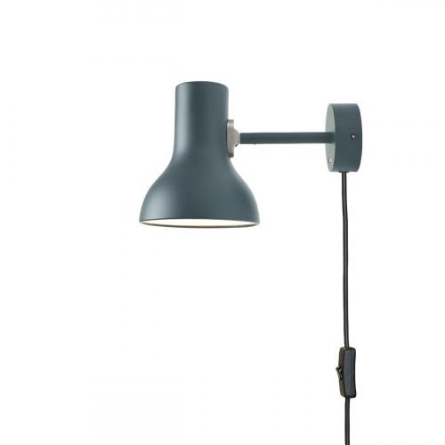 Anglepoise Type 75 Mini Wall Light grey with plug lead