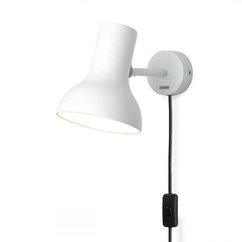 Anglepoise Type 75 Mini Wall Light weiß mit Steckerzuleitung