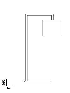 Anta Afra Tischleuchte Grafik