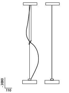 Anta Maru Grafik, links mit Höhenverstellung und rechts höheneinstellbar