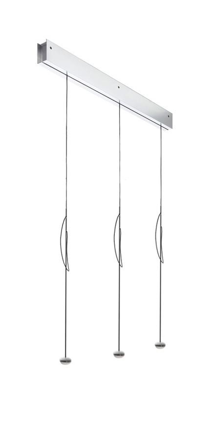 Anta Ny Schiene Alu mit 3 Lampen Alu mit Höhenverstellung
