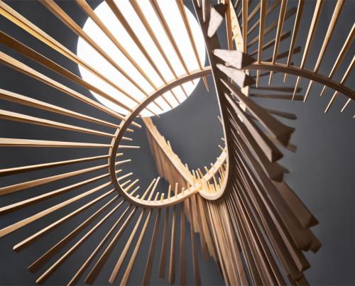 Arturo Alvarez Aimei Glasdiffusor innerhalb der Holzstäbe