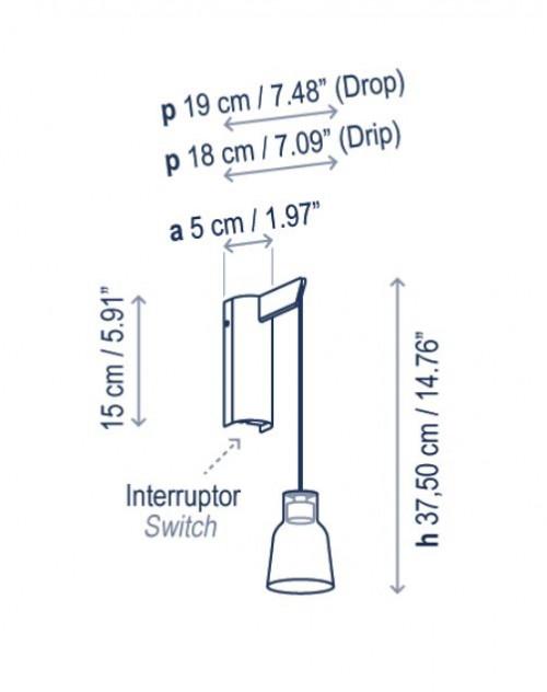 Bover Drip A/01 Grafik Wandhalterung