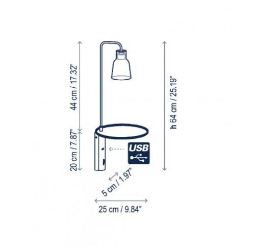 Bover Drip A/03 Grafik Wandhalterung