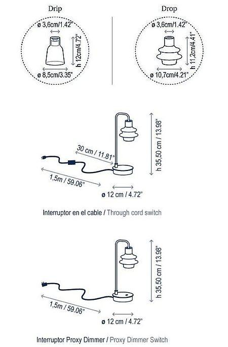 Bover Drip M/36 Touchdimmer Grafik