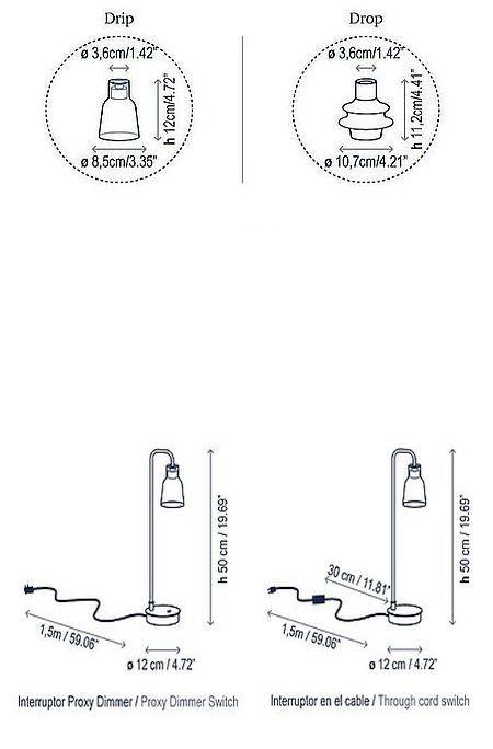 Bover Drip M/50 Touchdimmer Grafik