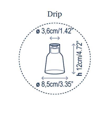 Bover Drip S/01L Grafik Leuchtenschirm