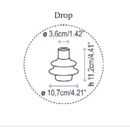 Bover Drop S/01L Grafik Leuchtenschirm