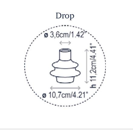 Bover Drop S/24L Grafik Leuchtenschirm