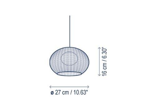 Bover Garota Catenary S/27/4L Outdoor Grafik Leuchtenschirm